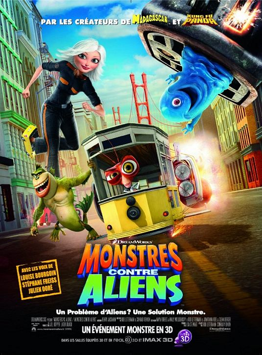 داونلود دوبله فارسی کارتون Monsters vs Aliens 2009 لینک مستقیم