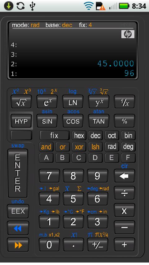 نسخه جدید ماشین حساب مهندسی اندروید Scientific Calculator