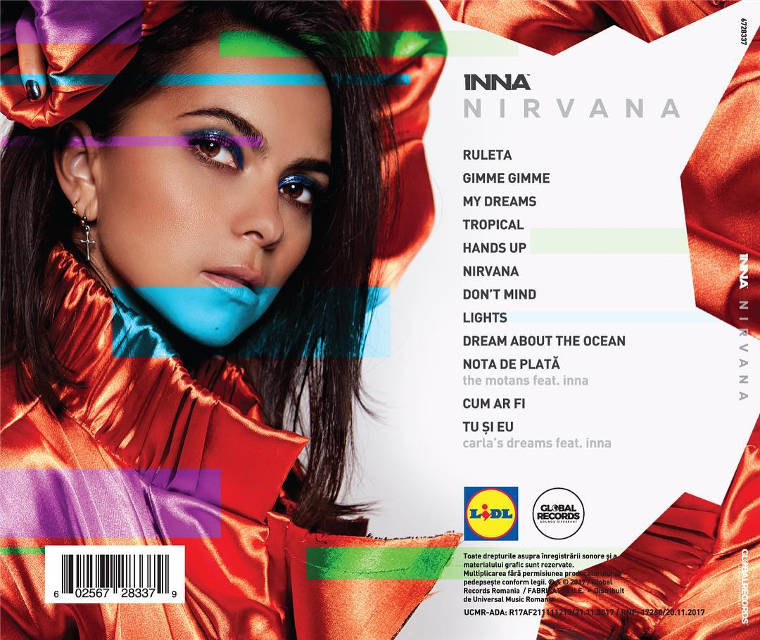 Inna : Nirvana lyrics and Album Cover