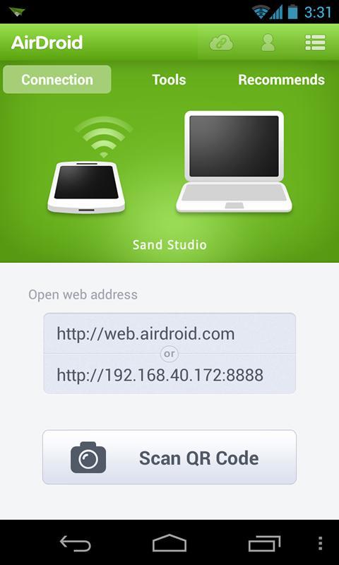 اتصال و مدیریت دستگاه اندروید به سیستم بصورت وایرلس