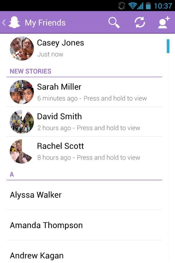 سرویسهای جدید چت اندروید اسنپچت Snapchat for Android Services