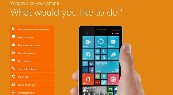 Windows Phone 8.1 Interactive Demo Site