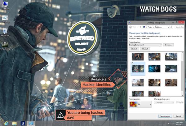 داونلود رایگان تم جدید برای ویندوز هشت Watch_Dogs Theme for Windows 8