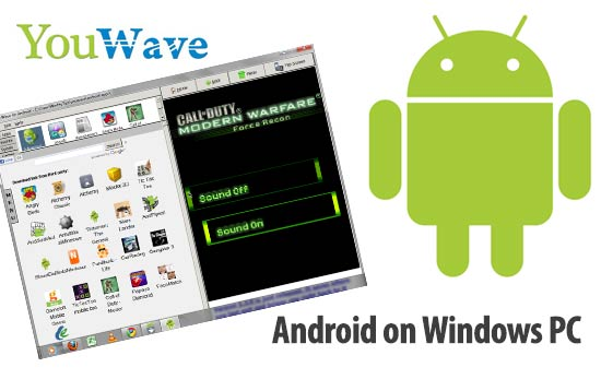Run Android on Windows PC. ... Runs Android apps and app stores on your PC, no phone required