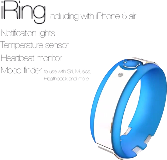 The iRing notification lights temperature sensor heartbeat monitor mood finder