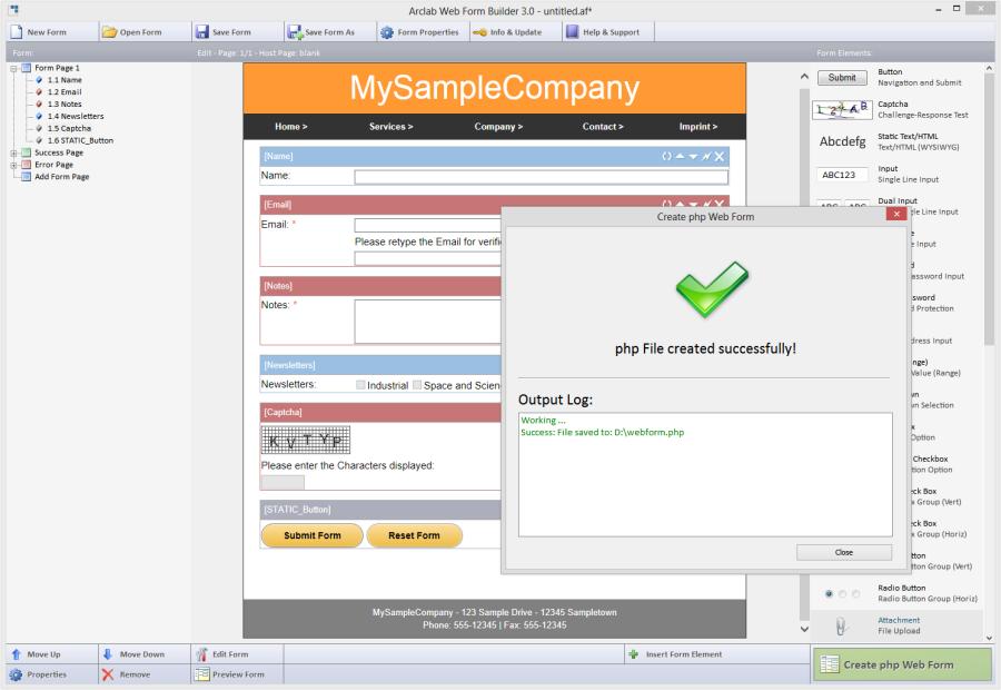 برنامه ساخت آسان فرم های پی ایچ پی php form