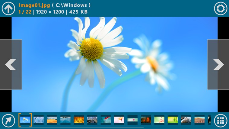 Free download the Picture Metro App for Windows 8