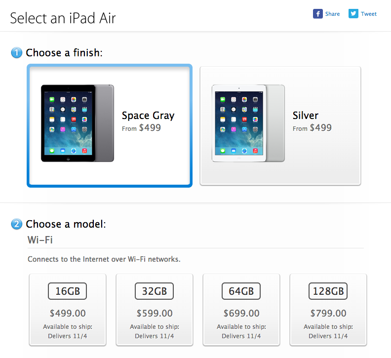 Apple Starts Selling iPad Air Worldwide