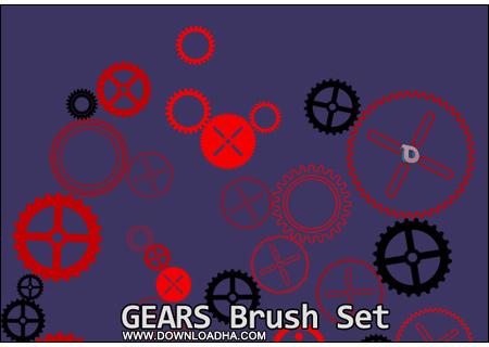 داونلود رایگان براش بسیار زیبا با عنوان Gears Brushes برای فتوشاپ