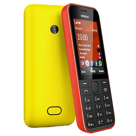 میکروسیم نوکیا دوسیمکارتNokia 208 Dual-SIM Price $80 / €60