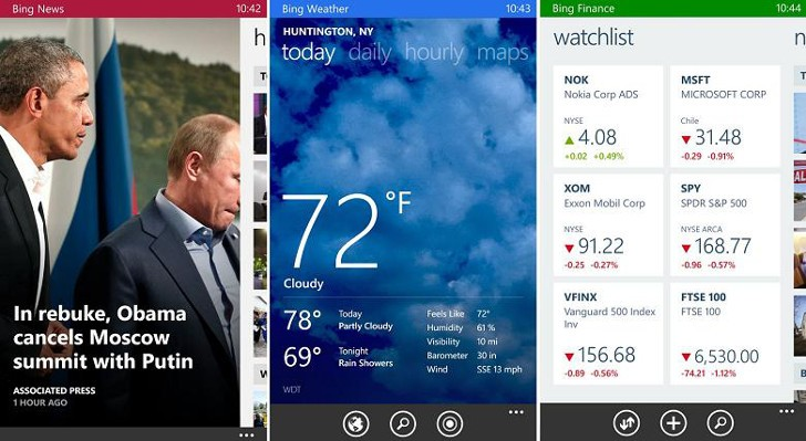 Microsoft Updates Bing Suite of Apps for Windows Phone with Bug Fixes