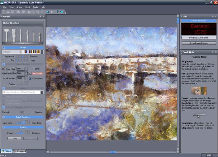 نرم افزار تبدیل عکس به نقاشی Dynamic Auto Painter