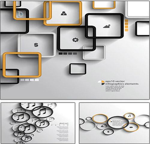 داونلود رایگان وکتور جدید گرافیکی Backgrounds With Infographics Elements