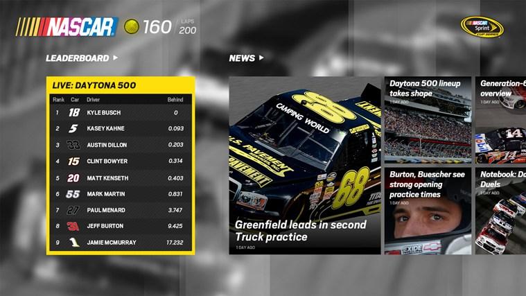 The Official NASCAR App for Windows 8