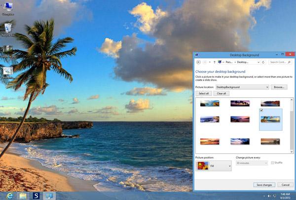 داونلود رایگان تم ساحلی جدید برای ویندوز هشت Beaches Panoramic Theme for Windows 8