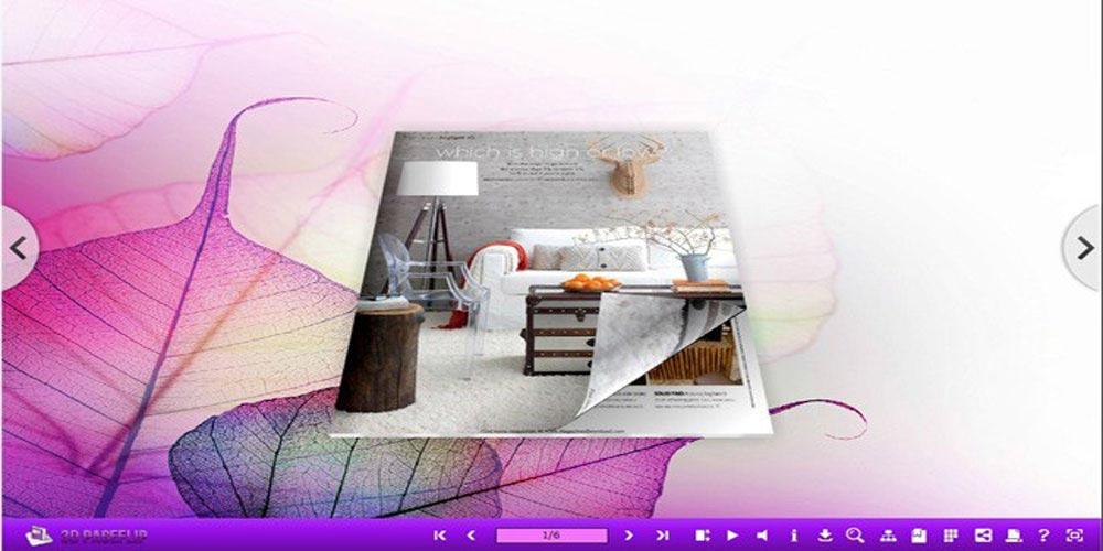 داونلود ۳D PageFlip Standard ورق زدن کتاب دیجیتال